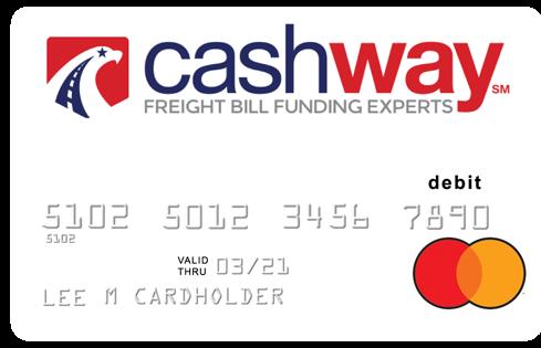 The Cashway Juice Prepaid MasterCard
